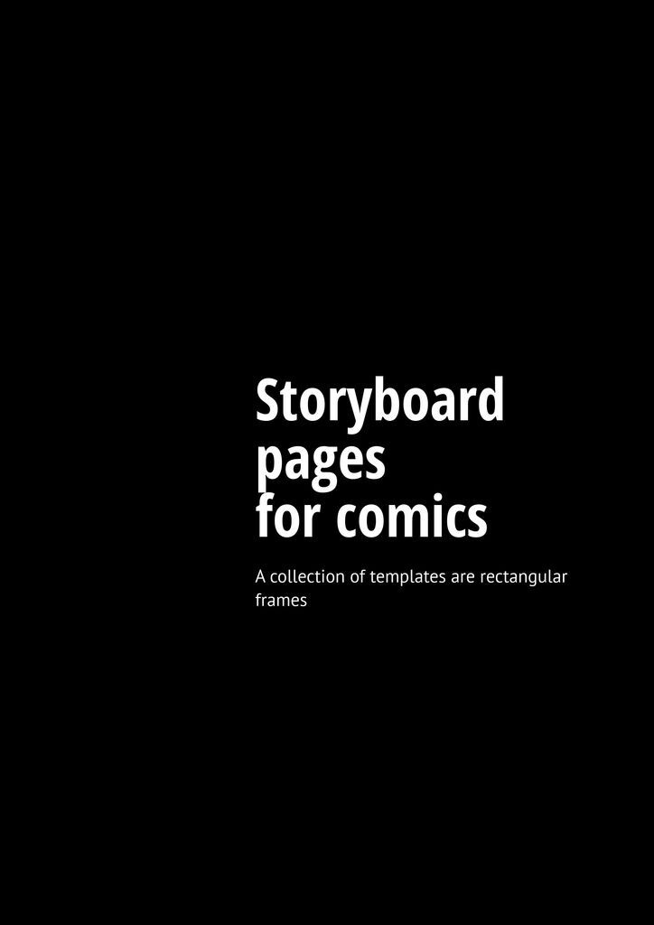 Storyboard pages for comics #1