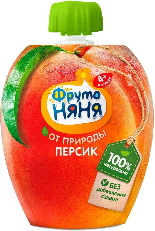 Пюре ФрутоНяня персиковое, натуральное, 90 г #1