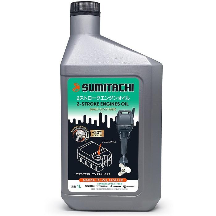Моторное масло SUMITACHI 2-Stroke Не подлежит классификации по SAE Полусинтетическое 1 л  #1