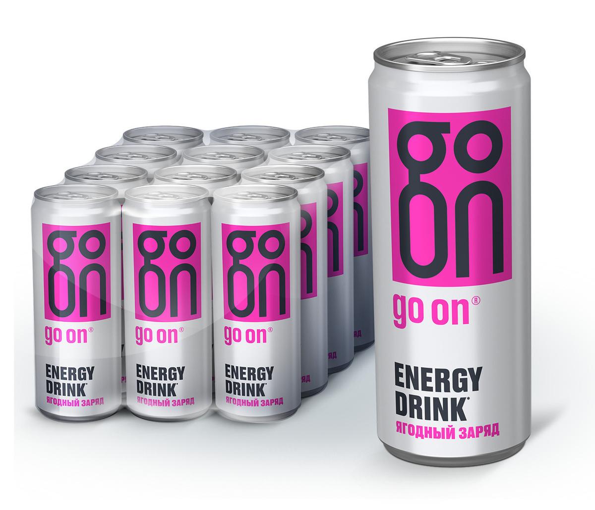 GO ON 330 мл Ягодный заряд напиток безалкогольный тонизирующий энергетический  #1