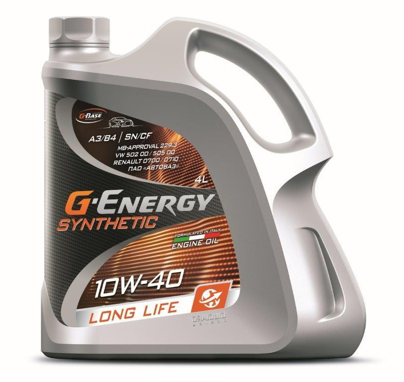 Моторное масло G-Energy Long Life 10W-40 Синтетическое 4 л #1