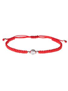 Milanti Браслет на красной нитке Фианит, красная нить, на запястье, серебряный, подарок на новый год. Вместе дешевле!