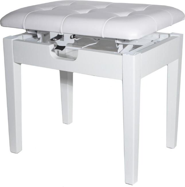 Банкетка для пианино или рояля BRAHNER BP-70/WH,   деревянная