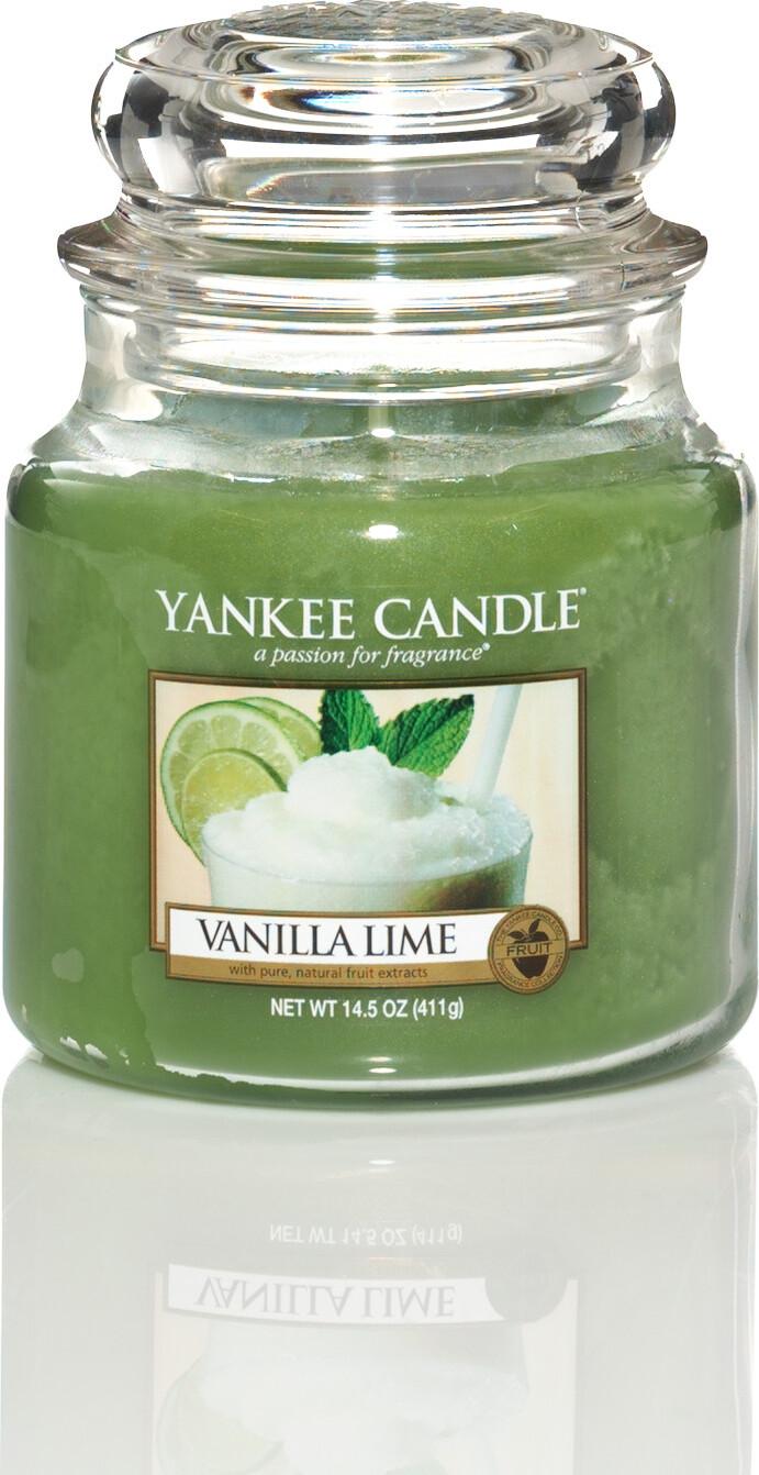 Свеча ароматическая Yankee Candle Ваниль и лайм/ Vanilla lime 65-90 ч цена в Москве и Питере