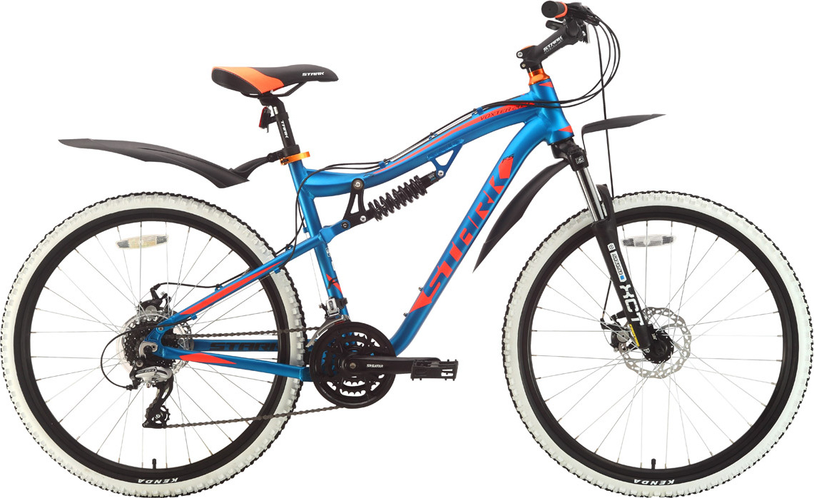 Велосипед STARK Voxter 26.4 FS D 2018 18 голубой/оранжевый/чёрный