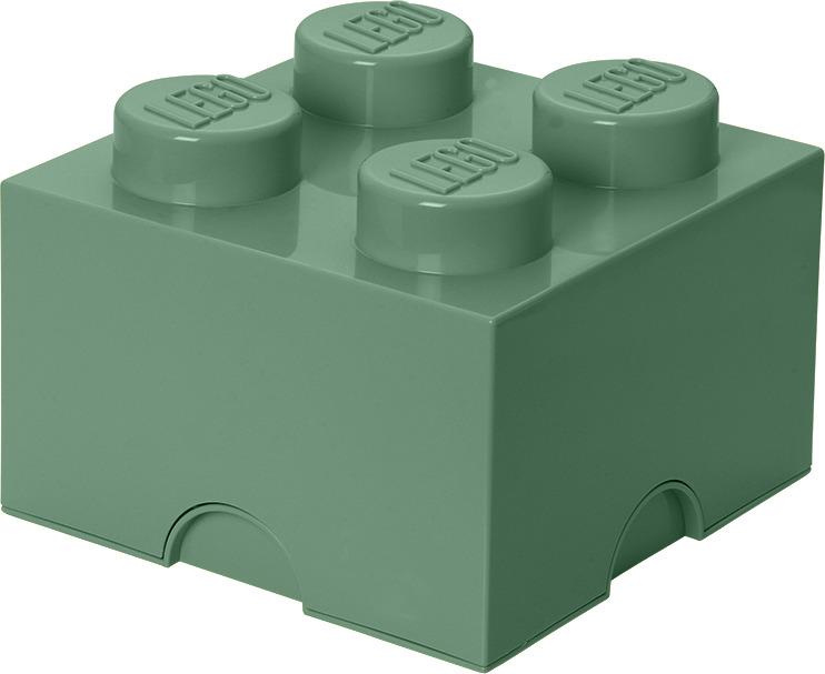 Ящик для хранения 4 LEGO песочно-зеленый