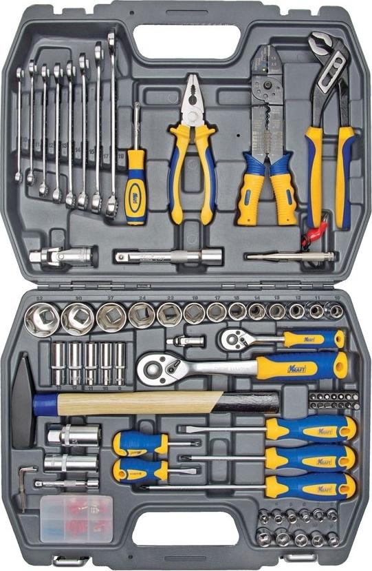 Набор ручного инструмента KRAFT КТ 700307 (99 предметов) mizumi 26 x 1 75 2 0 с велониппелем