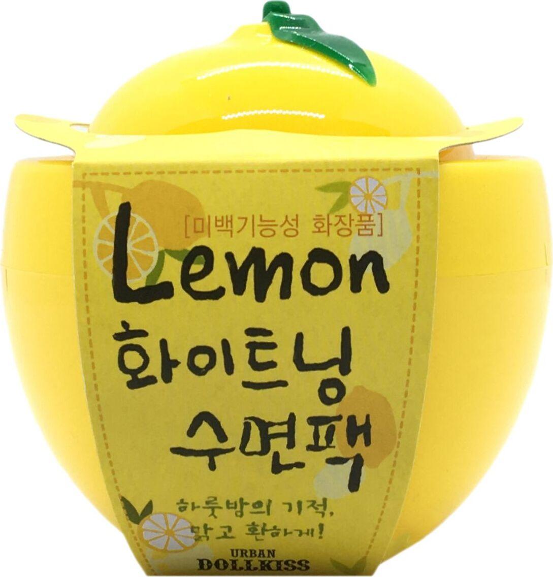 Маска для лица ночная осветляющая с лимоном Urban Dollkiss Lemon Whitening Sleeping Pack, 100 мл