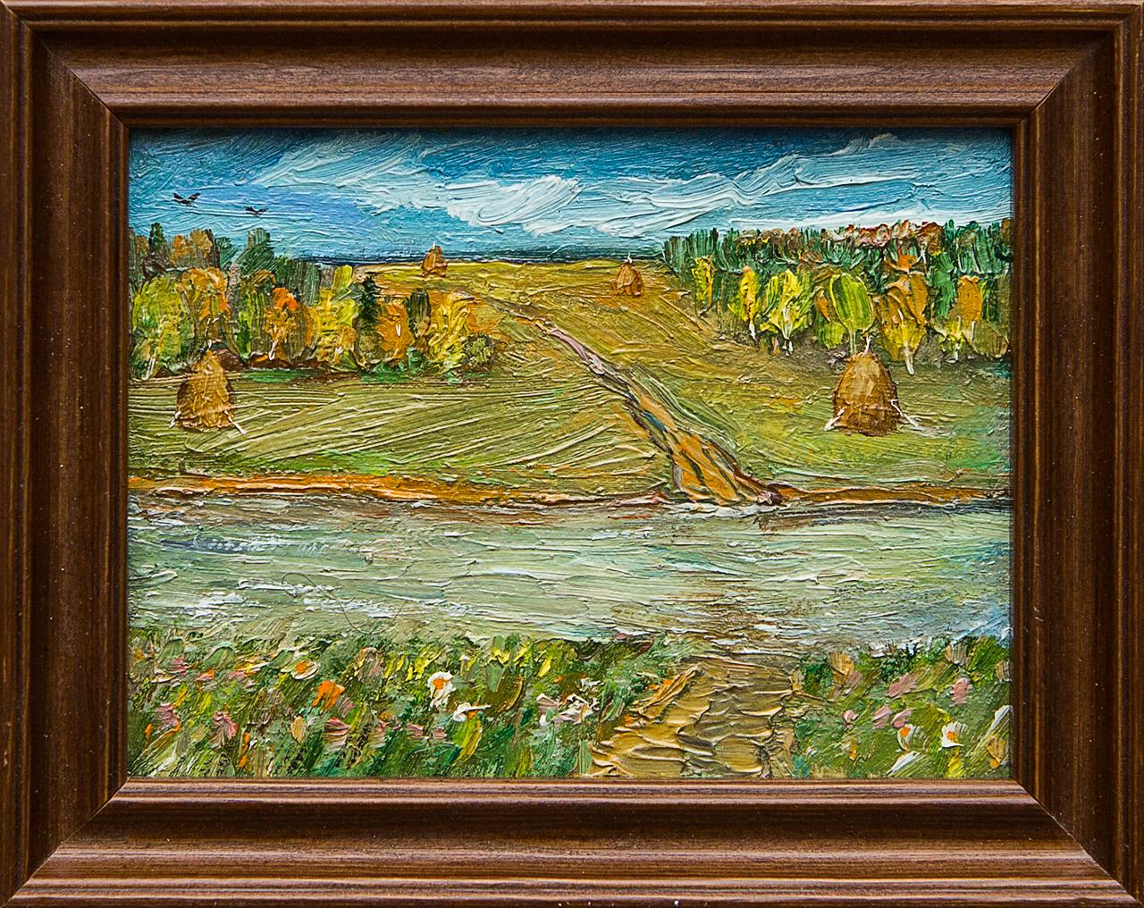 Картина маслом Переправа Мифтахов картина маслом подсолнухи мифтахов