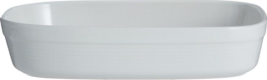 Блюдо для запекания Mason Cash William прямоугольное 28 см белое