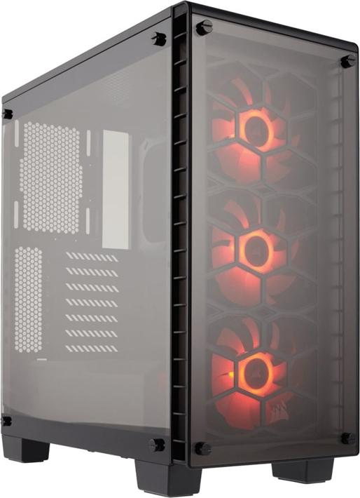 Компьютерный корпус Corsair Crystal Series® 460X RGB CC-9011101-WW ATX Mid-Tower, Front: (x3) 120mm SP120 RGB LED