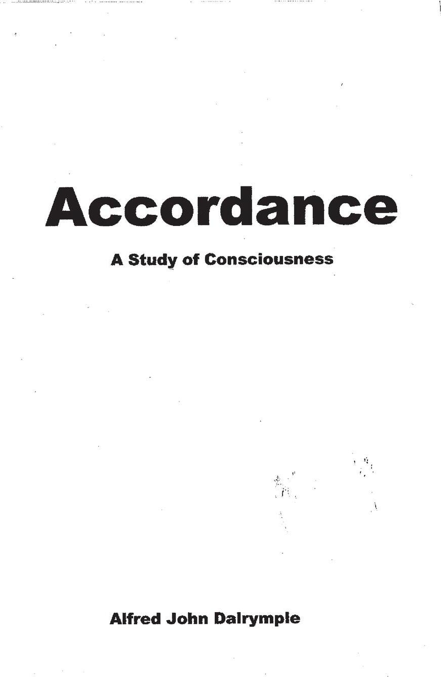 Accordance. A Study of Consciousness
