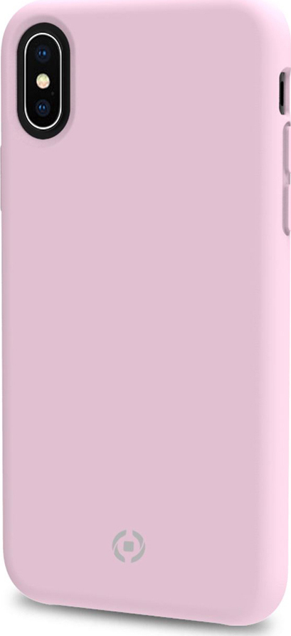 Чехол-накладка Celly Feeling для Apple iPhone XS Max soft touch, розовый
