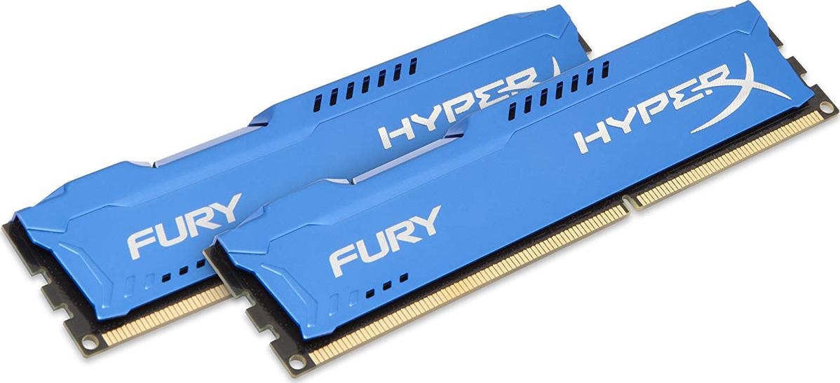 Оперативная память Kingston 8GB DDR3 1333 DIMM HX313C9FK2/8 HyperX FURY Blue, Non-ECC, CL9, Kit (2x4GB)