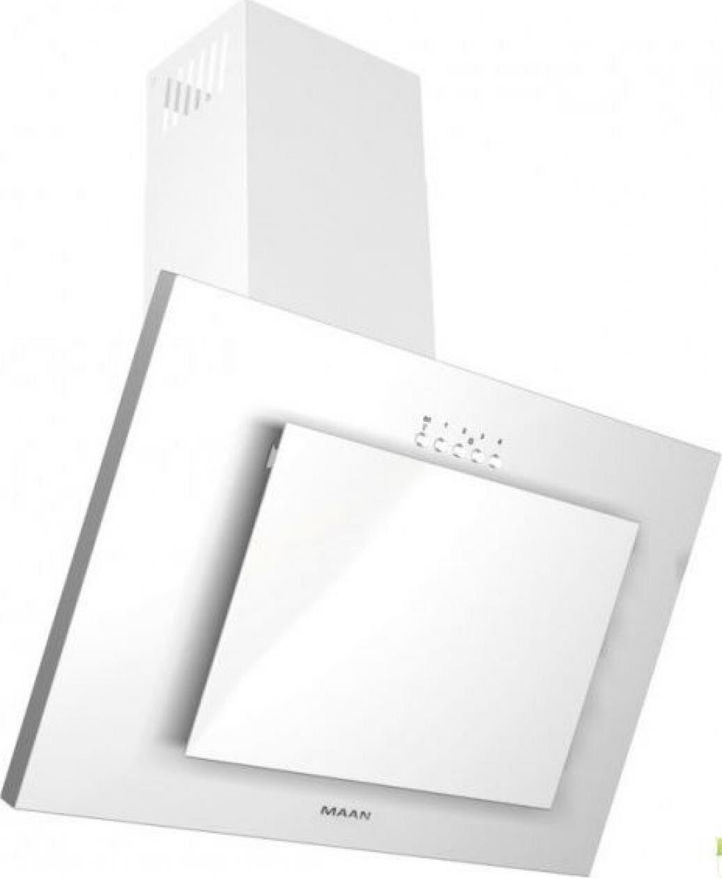 Кухонная вытяжка MAAN Vertical G 50 белый Кухонная вытяжка. Наклонная со стеклом, 600 м. куб./час 3 скорости...