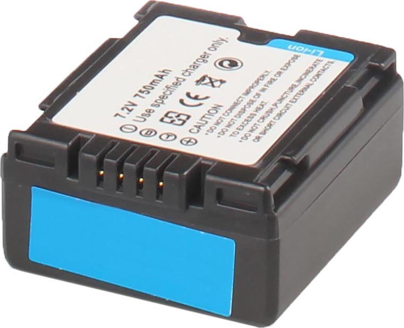 Аккумуляторная батарея iBatt iB-T1-F312 750mAh для камер Hitachi DZ-MV350E, DZ-MV730E, DZ-BD70, DZ-GX3100E, DZ-MV380, DZ-BD7H, DZ-MV750E,  для Panasonic NV-GS27, NV-GS300, NV-GS400, NV-GS500, NV-GS35, SDR-H280, NV-GS6, SDR-H20, NV-GS230, NV-GS180,