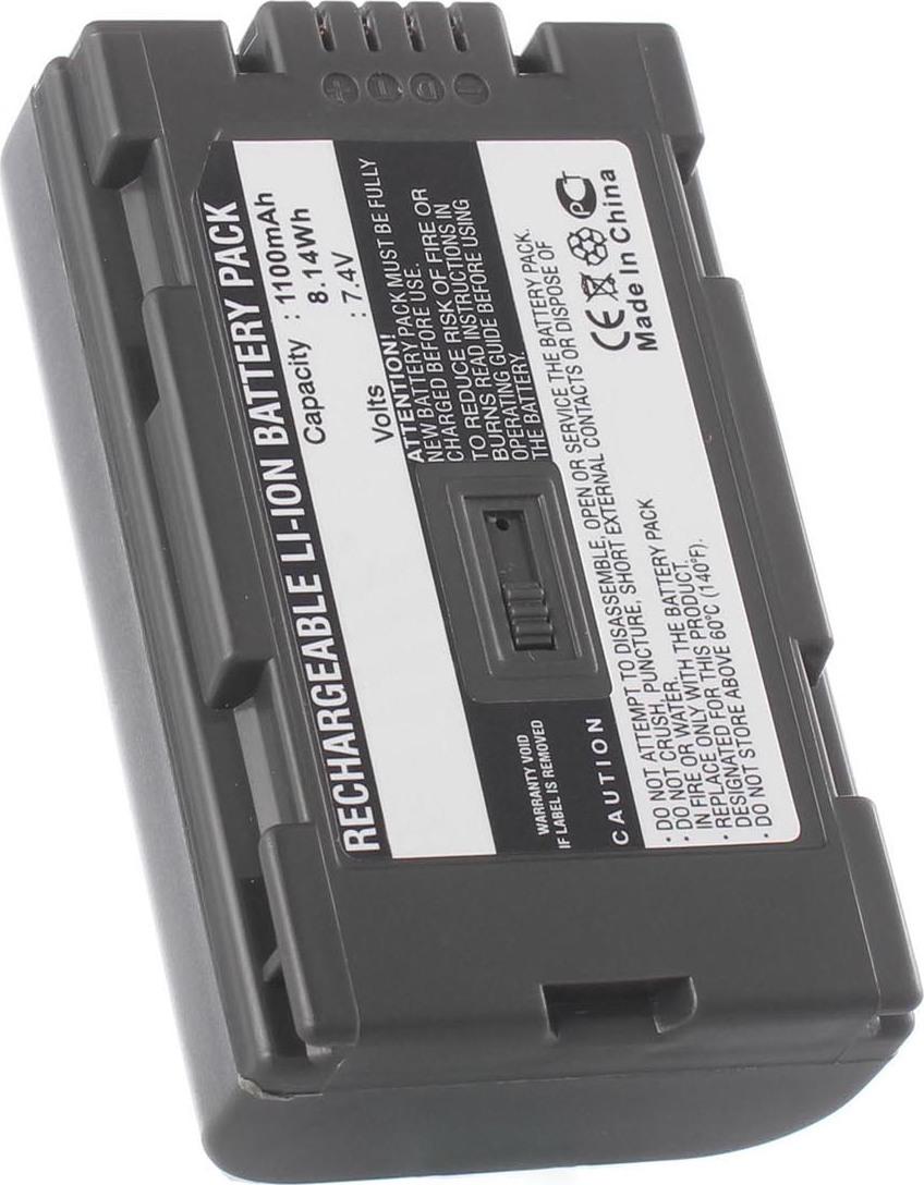 Аккумуляторная батарея iBatt iB-T2-F351 1050mAh для камер Panasonic NV-DS15, NV-DS50, AG-DVC30, AG-DVX100B, NV-GS3, AG-DVC60E, AG-DVC80, AG-DVX100AE, NV-DS38, NV-DS25, NV-MX5000, PV-GS9, NV-C7, NV-DB1, NV-DS150, NV-DS15EN, NV-DS25EN, NV-DS29EG,