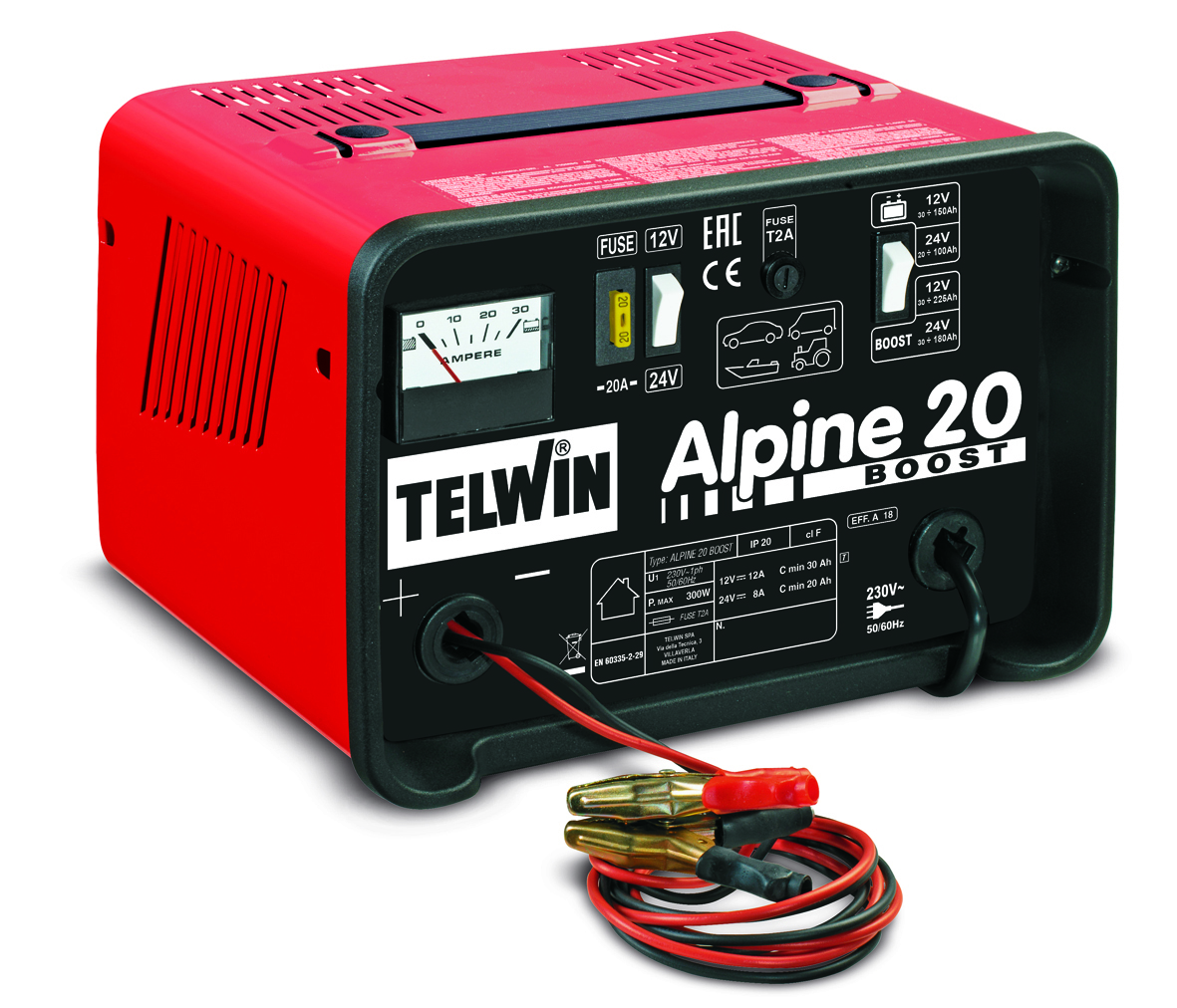 Зарядное устройство автомобильное TELWIN ALPINE 20 BOOST 230В 12-24В