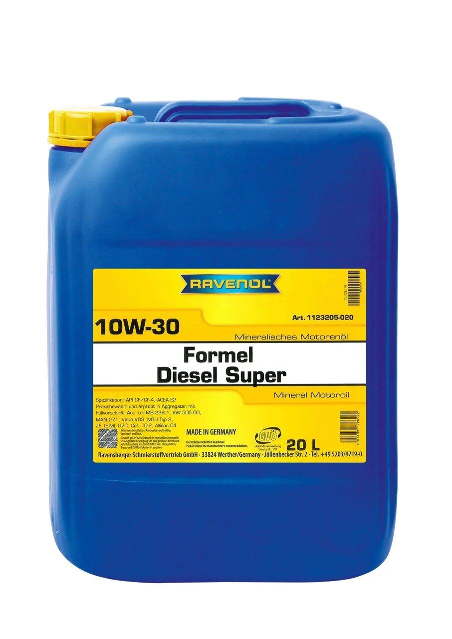 Моторное масло RAVENOL Formel Diesel Super SAE 10W-30 (20л) new