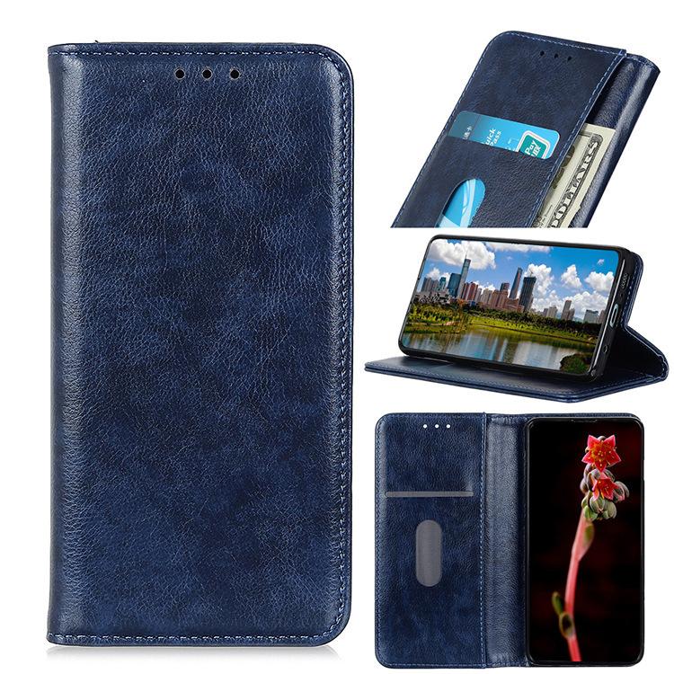 Чехол-книжка MyPads Premium для Nokia 7.2/ Nokia 6.2 из качественной натуральной мраморной кожи буйвола прошитый элегантной прострочкой синий с магнитной крышкой