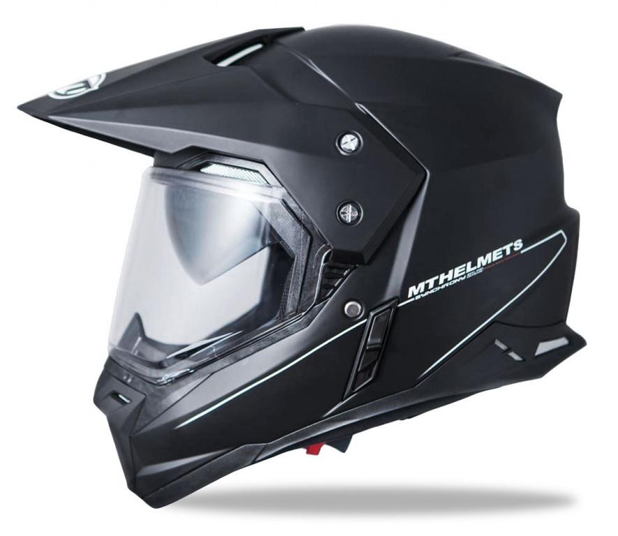 Снегоходный шлем MT Synchrony SV Duo Sport с электостеклом, черный матовый