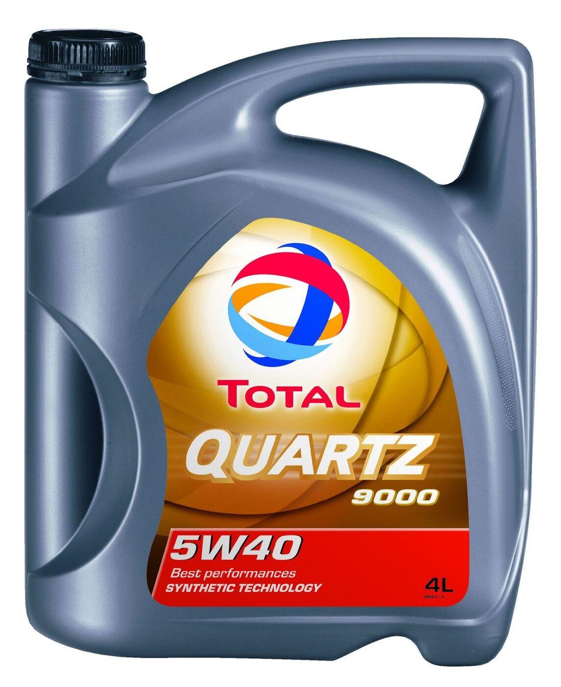 Моторное масло Total QUARTZ 9000 5W40 (4 литра)