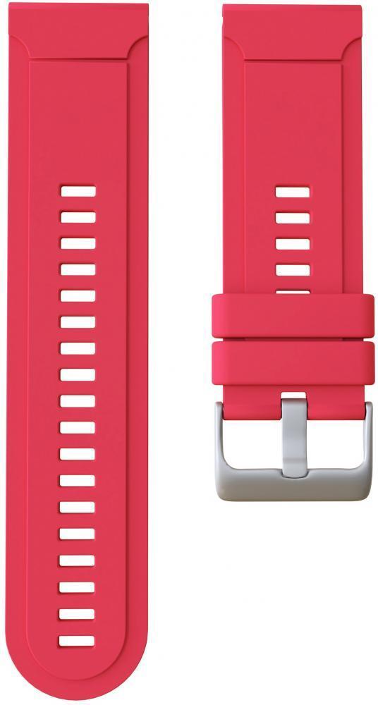 Ремешок силиконовый GSMIN Silicone для Garmin Fenix 3 / 3 HR / 3 Sapphire / Quatix 3 / 5X / 5X Plus / D2 Bravo / Tactix Bravo / Descent Mk1 (Красный)