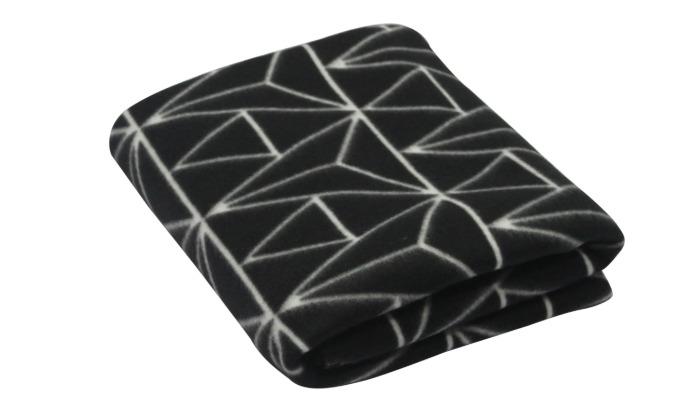 Плед, 130х170 см, флис, цвет чёрный-21054