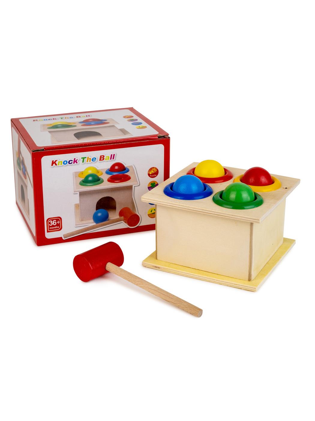 Обучающая, развивающая игра стучалка-шарики, деревянная Asmar.