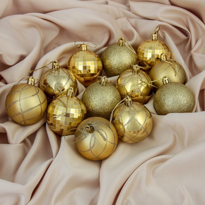 Набор ёлочных шариков Зимнее волшебство, диаметр 5,5 см, 12 шт