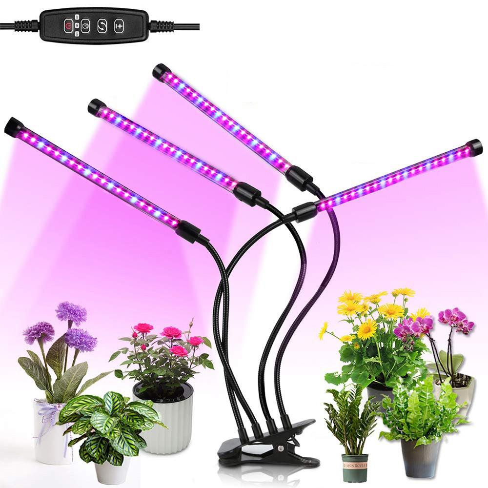 Лампа для выращивания растений Will & Ivy с четырьмя головками 4x10Вт LED светильник для Лампа