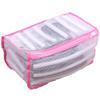 LEMLEO Мешок сумка для стирки спортивной обуви, кроссовок в стиральной машине, сетка, розовый - изображение