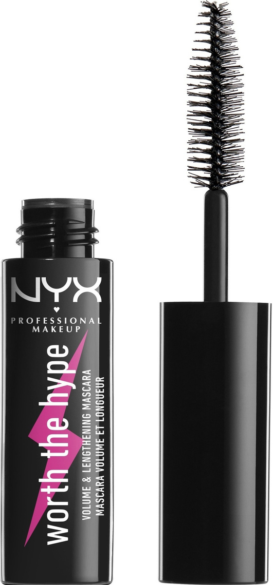 NYX Professional Makeup Worth The Hype Volumizing & Lengthening Mascara Mini Тушь для ресниц, оттенок #1