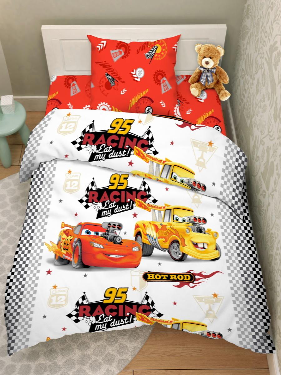 Детский комплект постельного белья Василек Disney Тачки Бязь, Хлопок, 1,5 спальный  #1