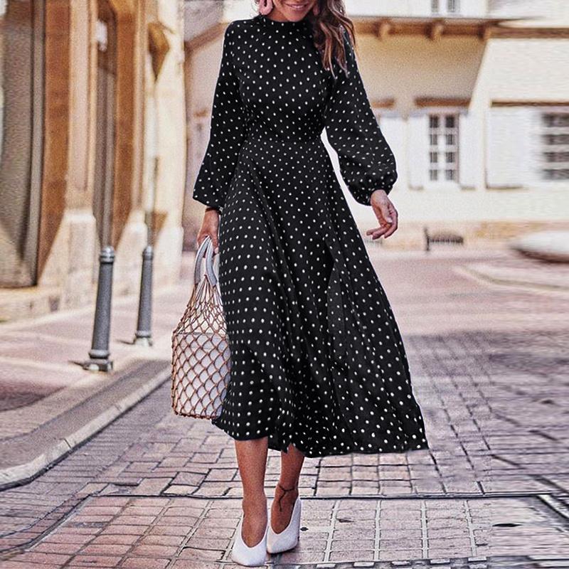 С Чем Носить Платье В Горошек 2021