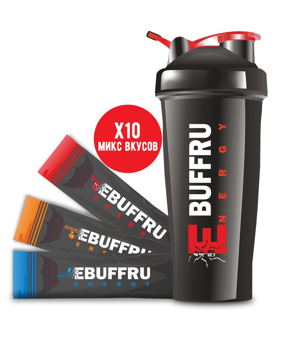 Набор Шейкер (черный) +10 паков (микс) EBUFFRU ENERGY #1