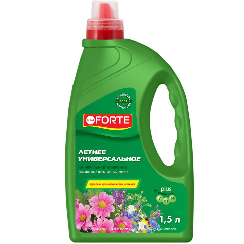 Удобрение Bona Forte Универсальное весна-лето, 1,5 л #1
