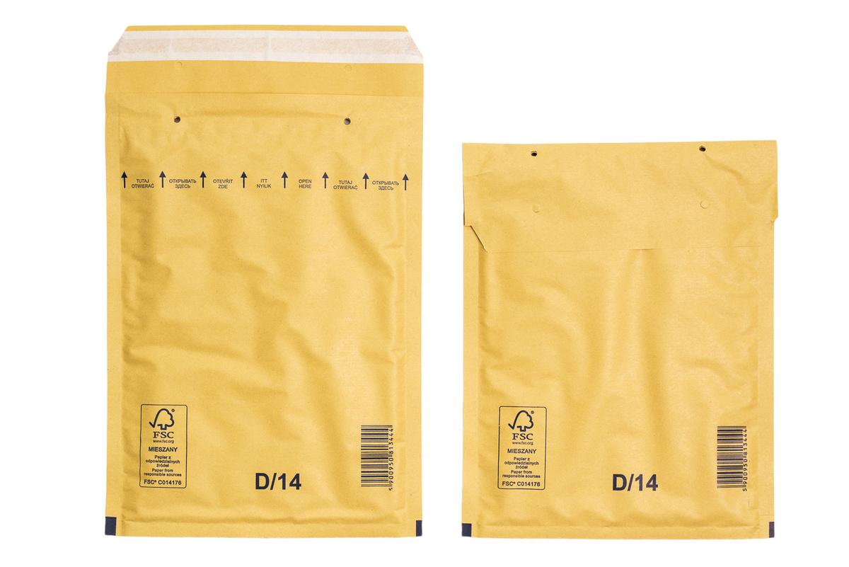 Крафт пакет воздушно пузырчатый (200*275) 50 мм, Коричневый, 100 штук  #1