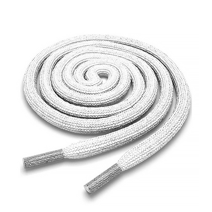 Шнурки для обуви AllaMo. Белые, круглые шнурки 100 см. 1 пара (2 шт)  #1