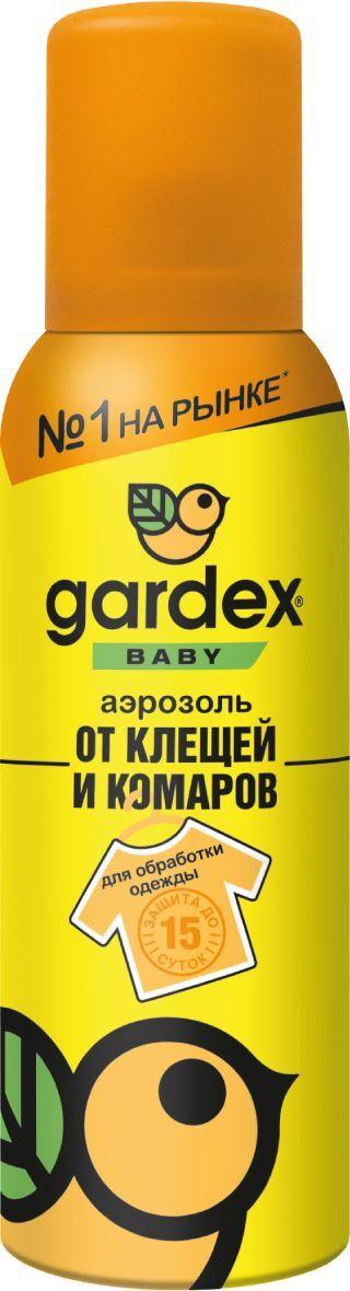 Средство от клещей и комаров Gardex Baby, аэрозоль, на одежду, для детей, 100 мл  #1