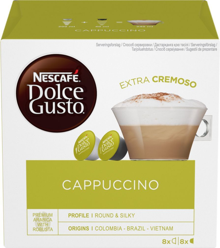 Кофе в капсулах Nescafe Dolce Gusto Cappuccino, 8 порций (16 капсул) #1