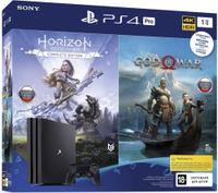 Игровая консоль Sony PlayStation Pro 1Tб в комплекте Horizon Zero Dawn + God Of War