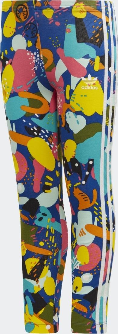 Леггинсы для девочки Adidas Leggings, цвет: разноцветный. ED7770. Размер 116 леггинсы для девочки acoola ultramarine цвет темно голубой 20240160016 600 размер 116