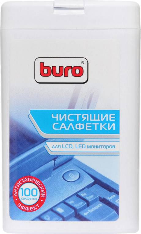 Салфетки Buro для экранов ЖК мониторов, 100 шт, BU-TFT аксессуар спрей silwerhof для экранов мониторов 250мл 417288