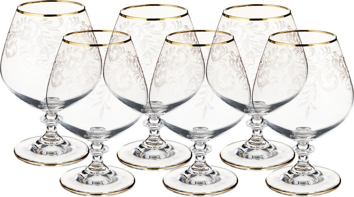"Набор бокалов для бренди Bohemia Crystal ""Анжела"", 400 мл, 6 шт. 40600/436091/400"