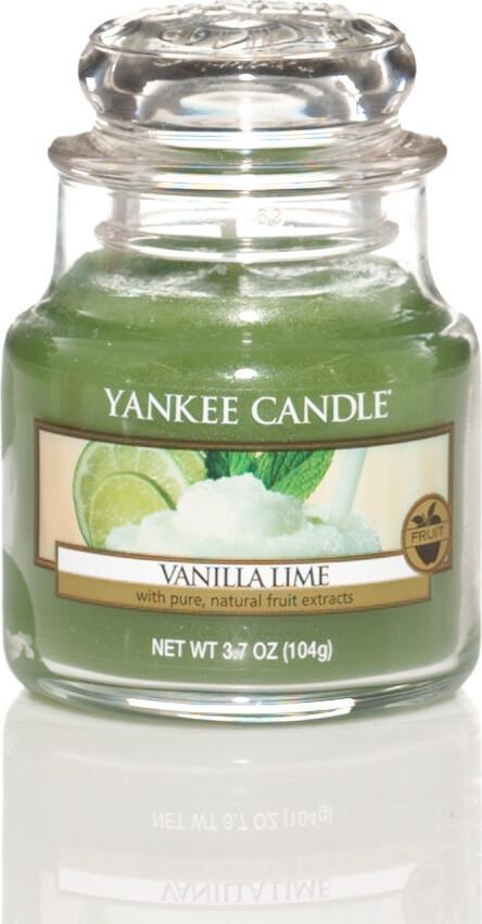 Свеча ароматическая Yankee Candle Ваниль и лайм/ Vanilla lime 25-40 ч цена в Москве и Питере