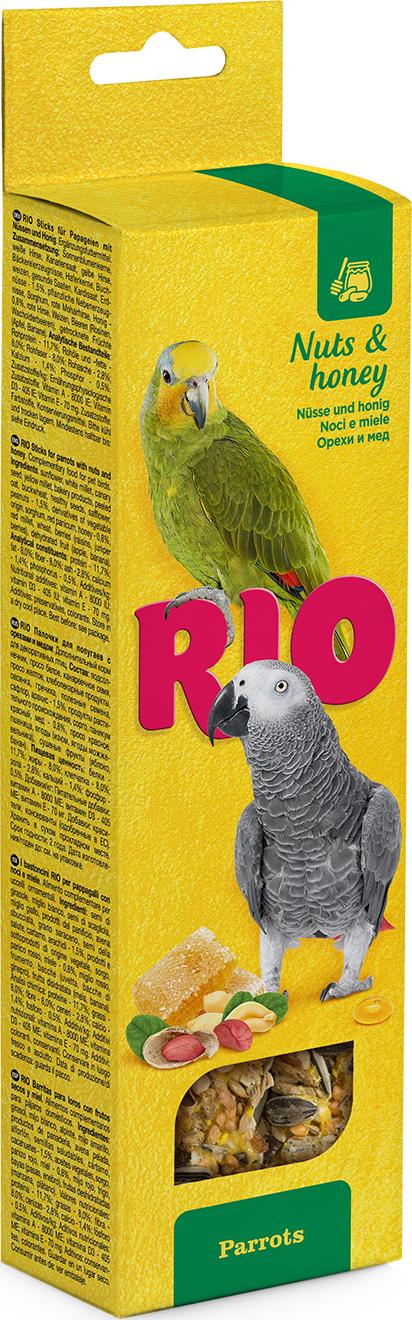 РИО Палочки д/крупных попугаев с медом и орехами 2*90г rio rio палочки для средних попугаев с медом и орехами 2 шт 75 г