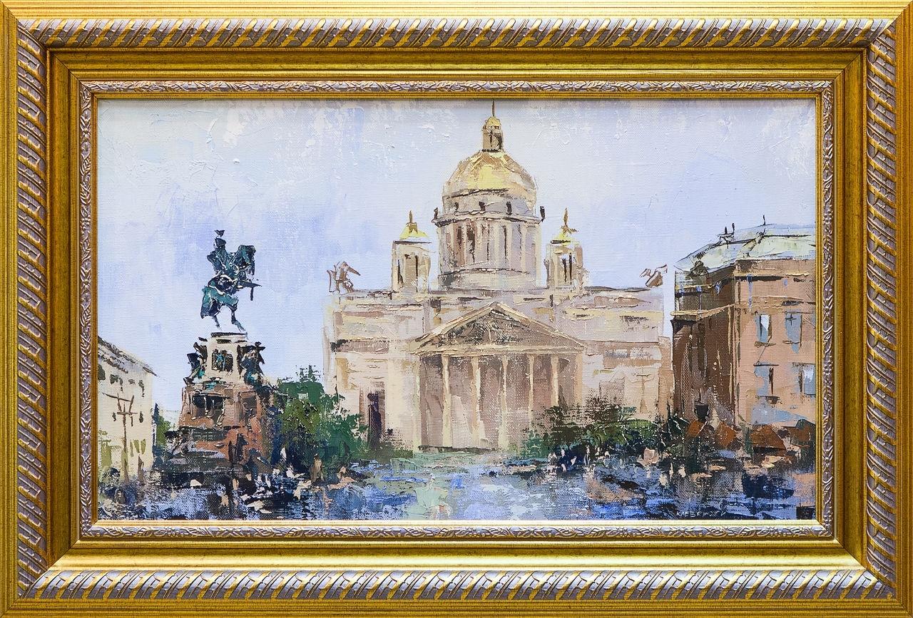 Картина маслом Исаакиевский собор Клеверов картина маслом петропавловка клеверов
