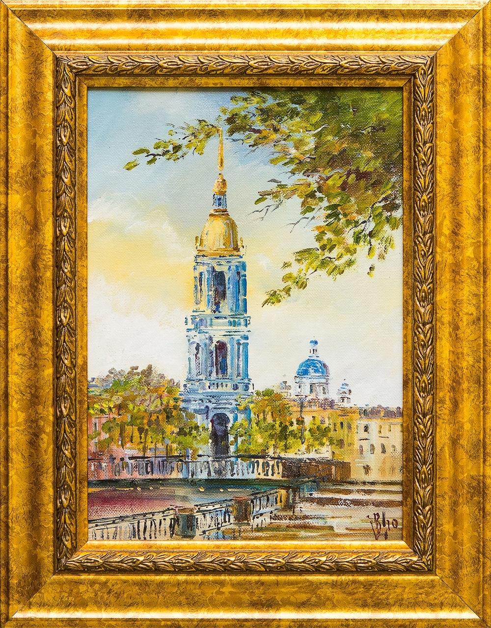 Картина маслом Никольский собор Шеренкова картина маслом вид на троицкий собор новицкий