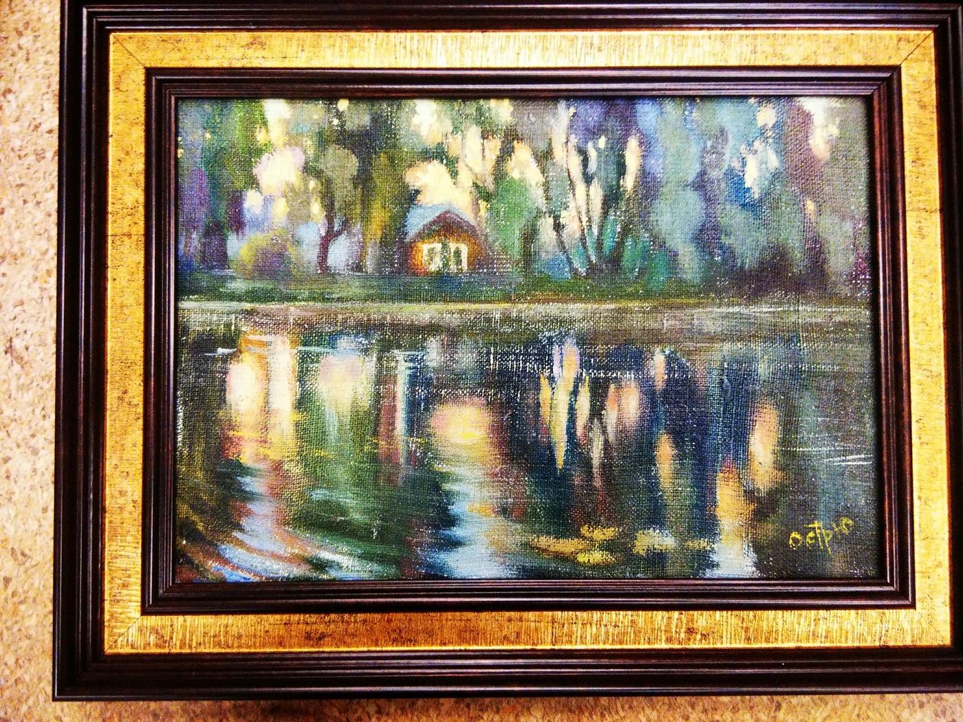 Картина маслом Река Цна Остроумова